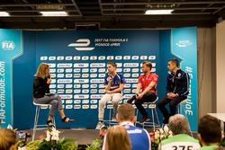 Conferenza stampa:  Robin Frijns, Amlin Andretti Formula E Team,  Nick Heidfeld, Mahindra Racing, Sébastien Buemi, Renault e.Dams