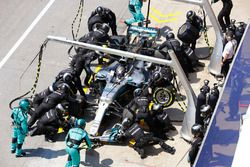 Boxenstopp: Valtteri Bottas, Mercedes AMG F1 W08