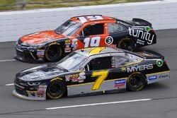Justin Allgaier, JR Motorsports Chevrolet and Matt Tifft, Joe Gibbs Racing Toyota