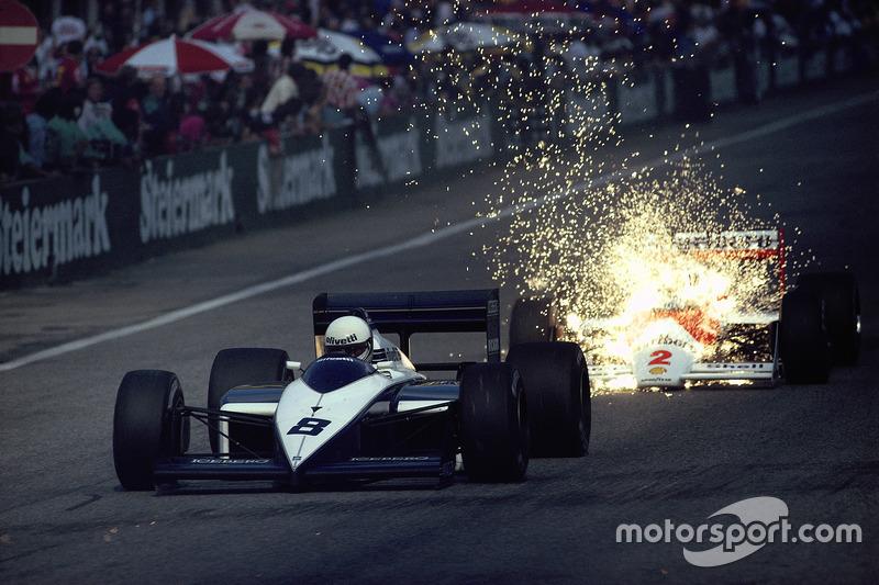 1987 - Andrea de Cesaris, Brabham, e Stefan Johansson, McLaren