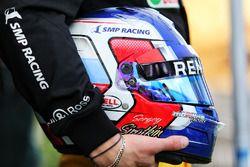 The helmet of Sergey Sirotkin, Renault Sport F1 Team Third Driver