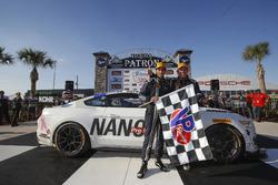 #60 KohR Motorsports Ford Mustang: Jade Buford, Scott Maxwellin victory lane