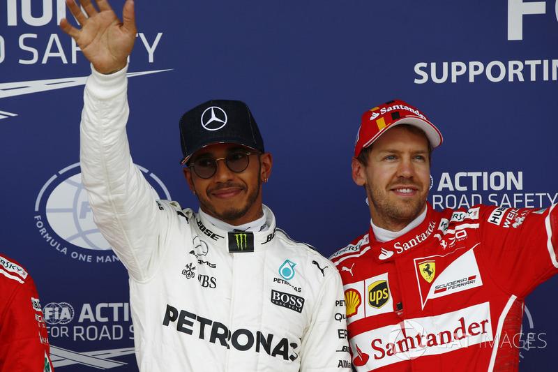 Володар поулу Льюіс Хемілтон, Mercedes AMG F1, Себастьян Феттель, Ferrari