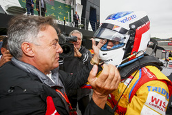 Race winner Giuliano Alesi, Trident, Jean Alesi