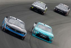 Joey Gase, Jimmy Means Racing Chevrolet, Denny Hamlin, Joe Gibbs Racing Toyota