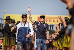 Max Verstappen, Red Bull Racing, on the drivers parade