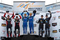 Podium: ganadores, Renger van der Zande, Marc Goossens, Visit Florida Racing, segundo, Eric Curran,