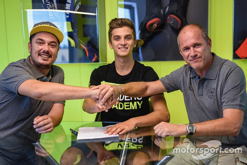 Dennis Foggia, Sky Racing Team VR46, Luca Marini, Sky Racing Team VR46, Pablo Nieto, Sky Racing Team VR46 Team Manager