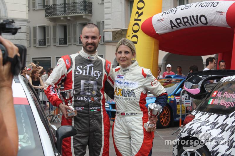 Andrea Crugnola et Moira Lucca, prémiation Rally du Tessin