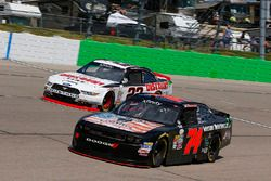 Sam Hornish Jr, Discount Tire Ford Mustang y Mike Harmon, Mike Harmon Racing Dodge