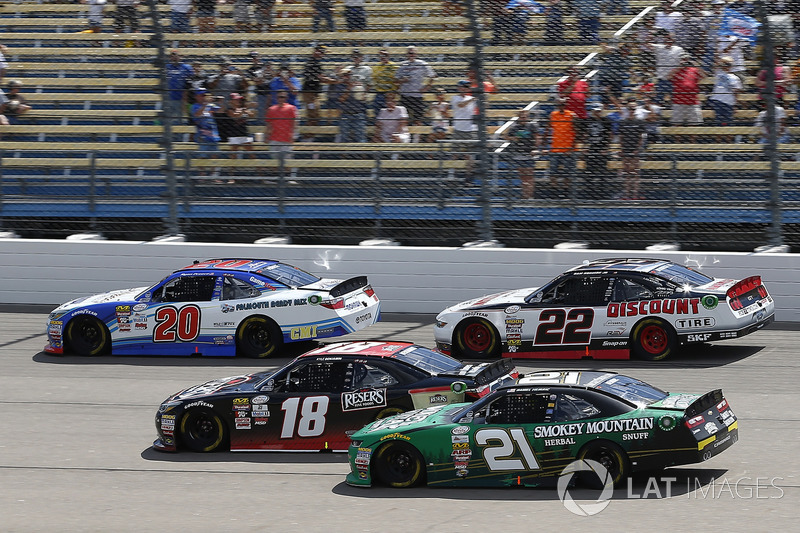 Ryan Preece, Joe Gibbs Racing Toyota, Kyle Benjamin, Joe Gibbs Racing Toyota, Daniel Hemric, Richard Childress Racing Chevrolet, Sam Hornish Jr, Discount Tire Ford Mustang