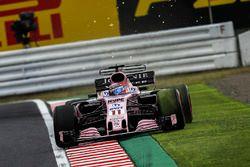 Vonken bij Sergio Perez, Sahara Force India VJM10