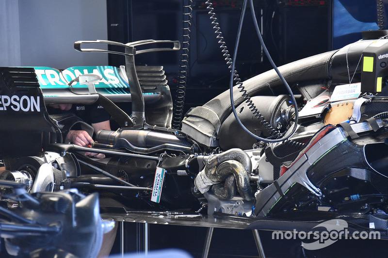 Mercedes W08: Heckbereich