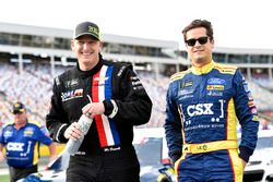 Michael McDowell, Leavine Family Racing, Chevrolet; Landon Cassill, Front Row Motorsports, Ford