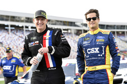 Michael McDowell, Leavine Family Racing Chevrolet, Landon Cassill, Front Row Motorsports Ford