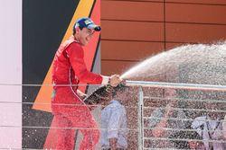 Podium: tercer lugar Alfonso Celis Jr., Fortec Motorsports