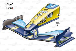 Renault R24 2004 Monza front wing and nose