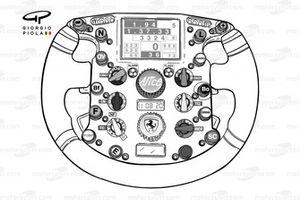Ferrari F2007 steering wheel