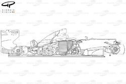 Ferrari F2012 side view stripped down outline