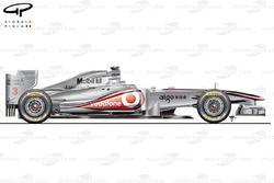 McLaren MP4/26 side view, European GP