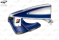 Nez et aileron avant de la Williams FW22