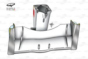BAR 003 2001 front wing and nose underside view