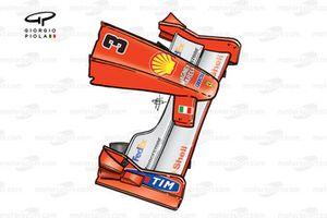 Ferrari F1-2000 (651) 2000 Belgium front wing