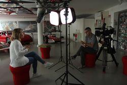 Alessia Regazzoni intervistata dal regista Felice Zenoni