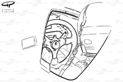 Cockpit et volant de la Williams FW16