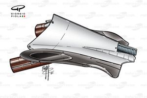 Williams FW24 2002 exhaust outlet
