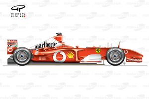 Ferrari F2002 (653) 2002 side view