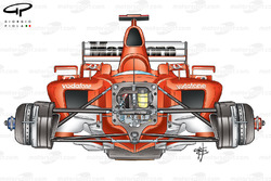 Ferrari F2003-GA (654) 2003, dettaglio anteriore