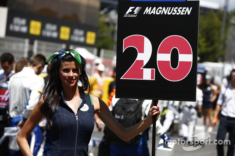 Grid Girl de Kevin Magnussen, Haas F1