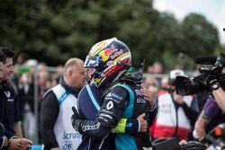 Alain Prost félicite Sébastien Buemi, Renault e.Dams