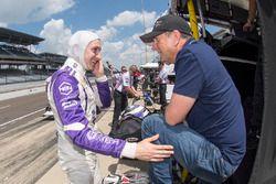 Zach Veach, A.J. Foyt Enterprises, Chevrolet, mit Vater Roger Veach