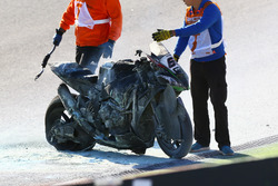 L'accident de Tom Sykes, Kawasaki Racing
