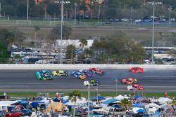 Daniel Hemric, Chevrolet, Erik Jones, Joe Gibbs Racing Toyota, Scott Lagasse Jr., Toyota, Brandon Jo