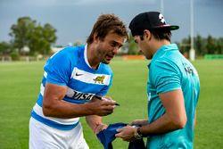 Rugby player Juan Martín Hernández and Nelson Piquet Jr., NEXTEV TCR Formula E Team