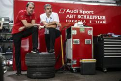 Thomas Biermaier, ABT Schaeffler Audi Sport et Dieter Gass, chef d'Audi Sport