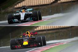 Сравнение Red Bull Racing RB13 и Mercedes AMG F1 W08