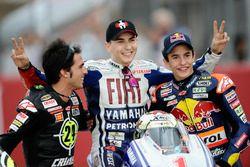 Motorrad-Weltmeister 2010: Toni Elias (Moto2), Jorge Lorenzo (MotoGP), Marc Marquez (125er)