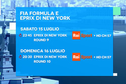 ePrix di New York, la locandina RAI