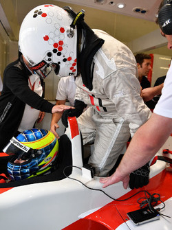 Zsolt Baumgartner, F1 Experiences 2-Seater driver and Adam Cooper, Journalist F1 Experiences 2-Seate