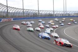 Martin Truex Jr., Furniture Row Racing Toyota leads