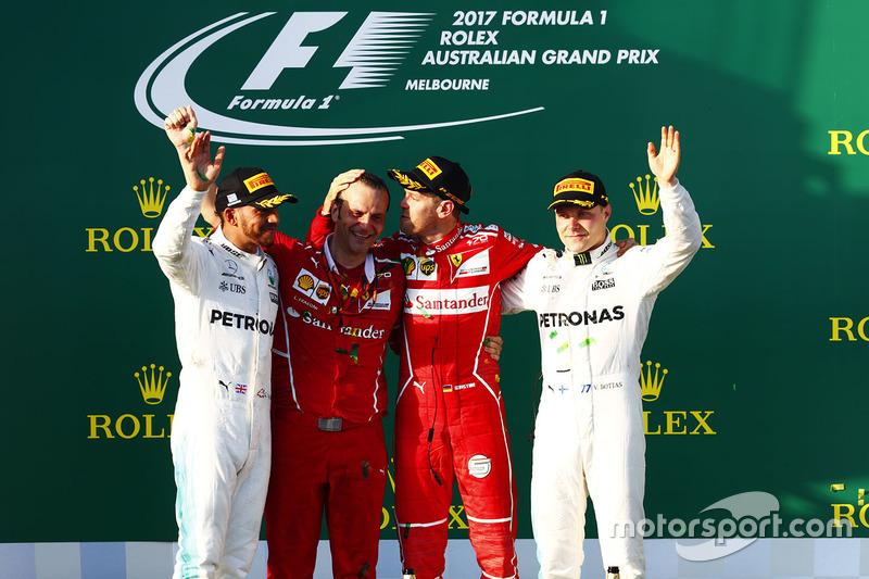 2017: 1. Sebastian Vettel, 2. Lewis Hamilton, 3. Valtteri Bottas