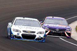 Joey Gase, BK Racing Toyota, Denny Hamlin, Joe Gibbs Racing Toyota