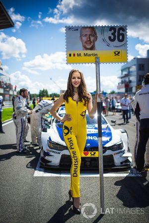 Chica de la parrilla de Maxime Martin, BMW Team RBM, BMW M4 DTM