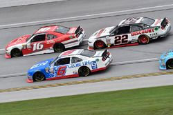 Darrell Wallace Jr., Roush Fenway Racing Ford, Ryan Reed, Roush Fenway Racing Ford, Joey Logano, Tea
