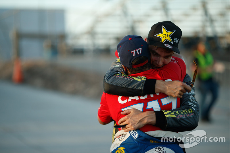 Race winner Fredric Aasbo, Jhonnattan Castro