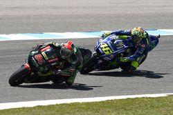 Jonas Folger, Monster Yamaha Tech 3; Valentino Rossi, Yamaha Factory Racing